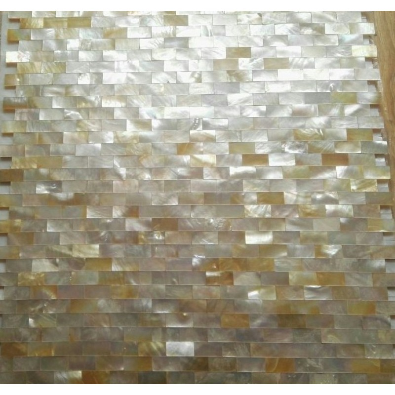 Seashell Backsplash Tile: Golden Shell Tiles Kitchen Backsplash Tile Mother Of Pearl