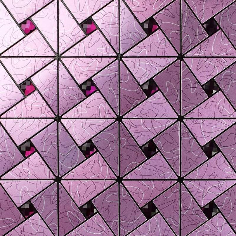 Kitchen Tiles Purple tile backsplash kitchen diamond crystal glass mosaic metal