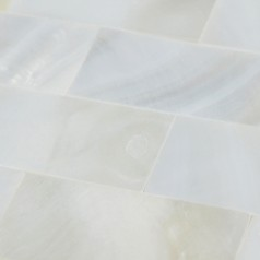 White Mother of Pearl Floor Tile Mosaic Kitchen Wall Tiles Ideas Seamless Subway Tile Backsplash