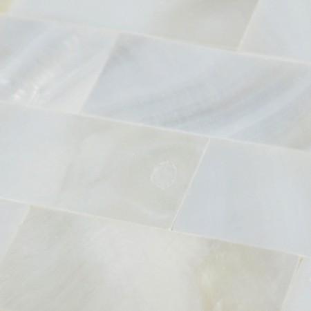White Mother of Pearl Floor Tile Mosaic Kitchen Wall Tiles Ideas Seamless Subway Tile Backsplash