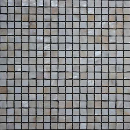 "Mother of Pearl Mosaic Shell Tile 3/5"" x 3/5"" Small Square Backsplash Border Tiles For Bathrooms"