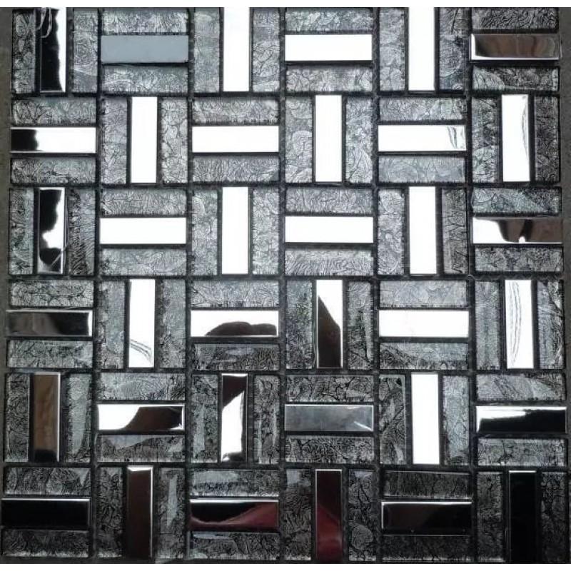 Glass And Meta Backsplash Tiles