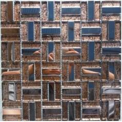 Glass Clear Backsplash Tiles Metal Stainless Steel Linear Tile Mirror Mosaic Sheets