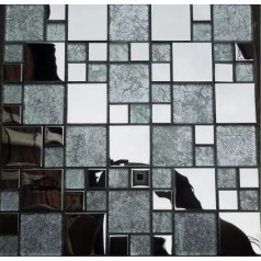 Glass And Metal Tile Kitchen Backsplash Stainless Clear Glass Mosaic Bath Tiles
