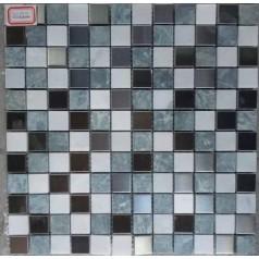 "Glass And Stone Tile Backsplash 7/8"" Bathroom Wall Tiles For Mosaic Cheap Squares"