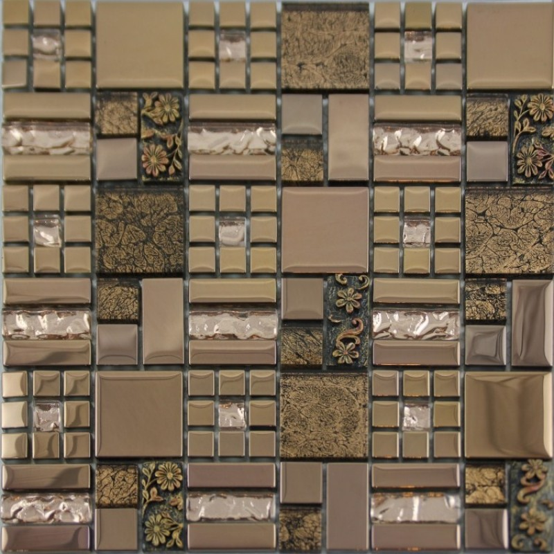 Kitchen Wall Tile Backsplash: Glass Mosaic Tiles Crystal Diamond Tile Bathroom Wall