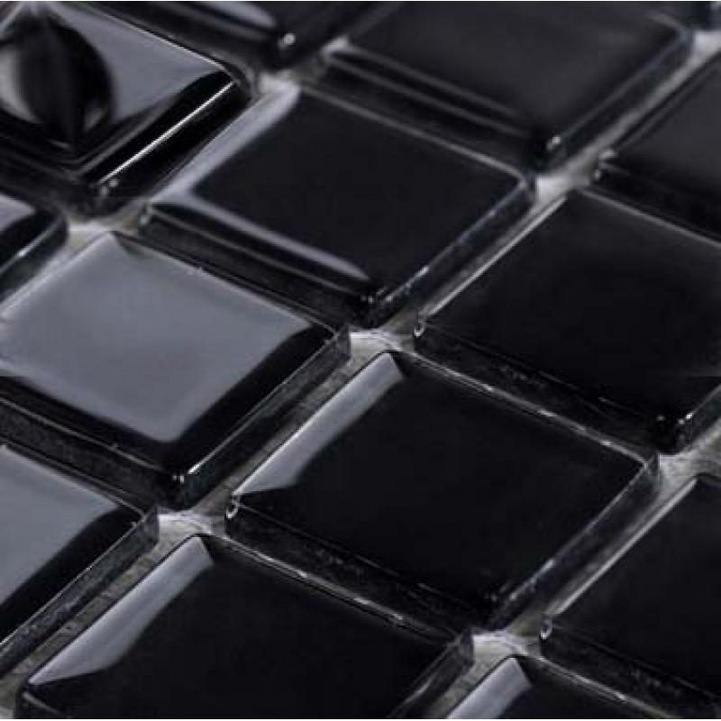 Hand Painted Tile Backsplash Wholesale Glass Mosaic for Swimming Pool Tile Sheet Black ...