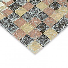 Crackle glass mosaic tile kitchen tile backsplash glass mosaic bathroom wall tiles HM0008