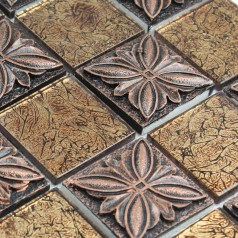 Glass tile Brown glass mosaic tiles crystal glass tile kitchen backsplash wall tiles Porcelain T1265
