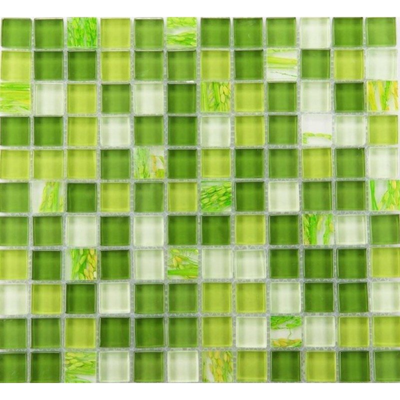 Mosaic Tile Crystal Glass Backsplash Dinner Design Bathroom Wall Floor
