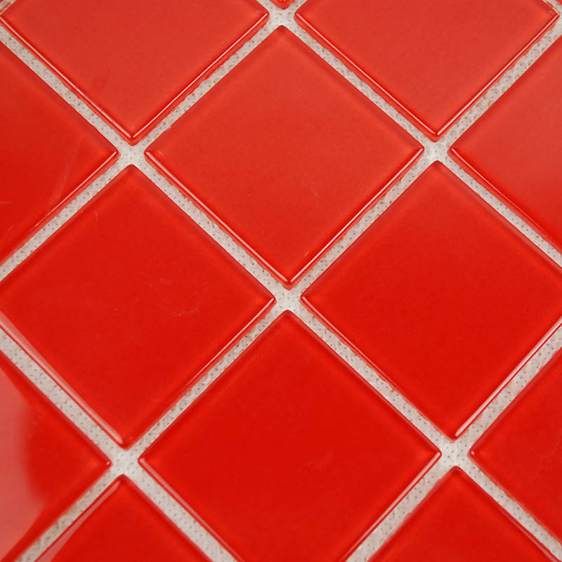 Wholesale vitreous mosaic tile crystal glass backsplash of for Red bathroom tiles design