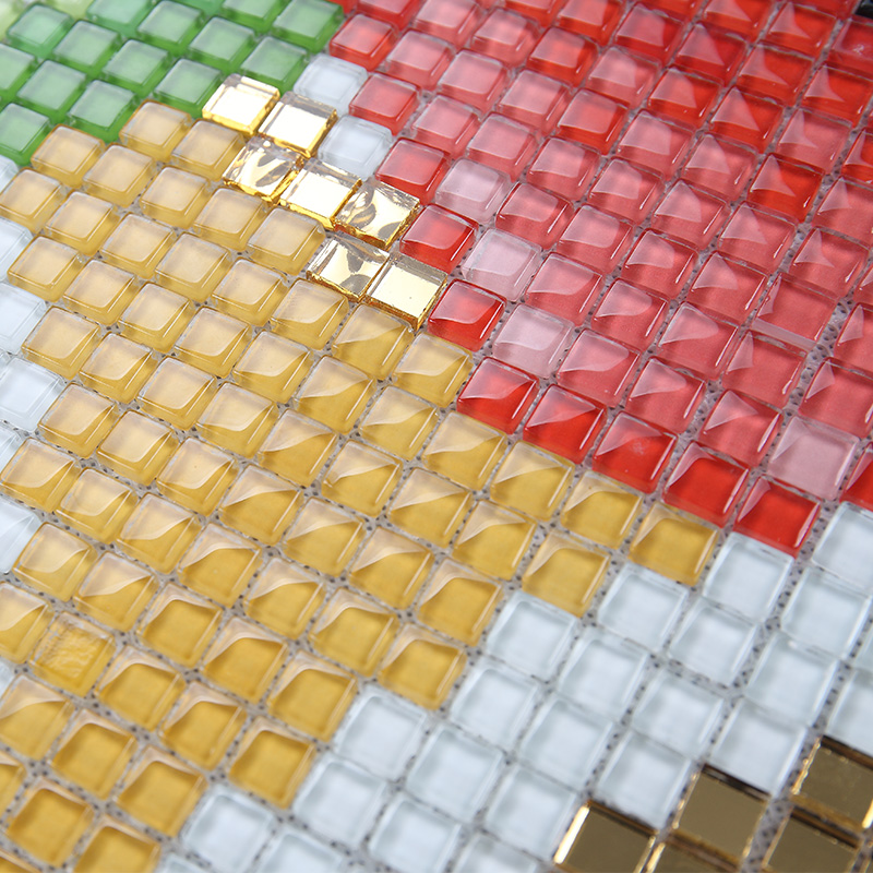 Wholesale Vitreous Mosaic Tile Pattern Glazed Crystal