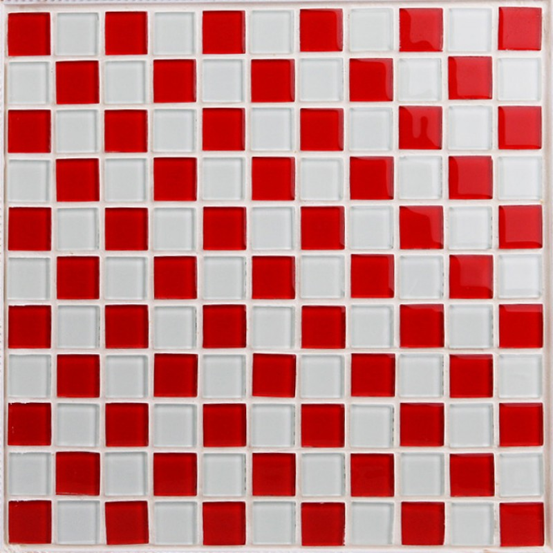 Gl Mosaic Tile Sheets Kitchen Backsplash 3031 Red And White Crystal Bathroom Wall Tiles