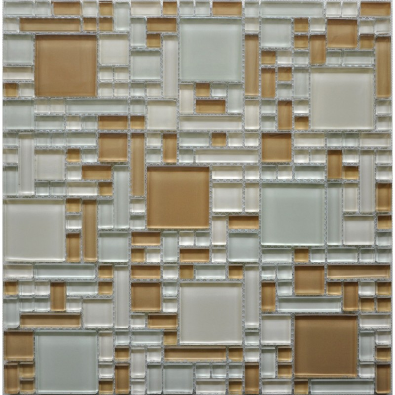 Wholesale Mosaic Tile Crystal Glass Backsplash Kitchen Countertop Design Show