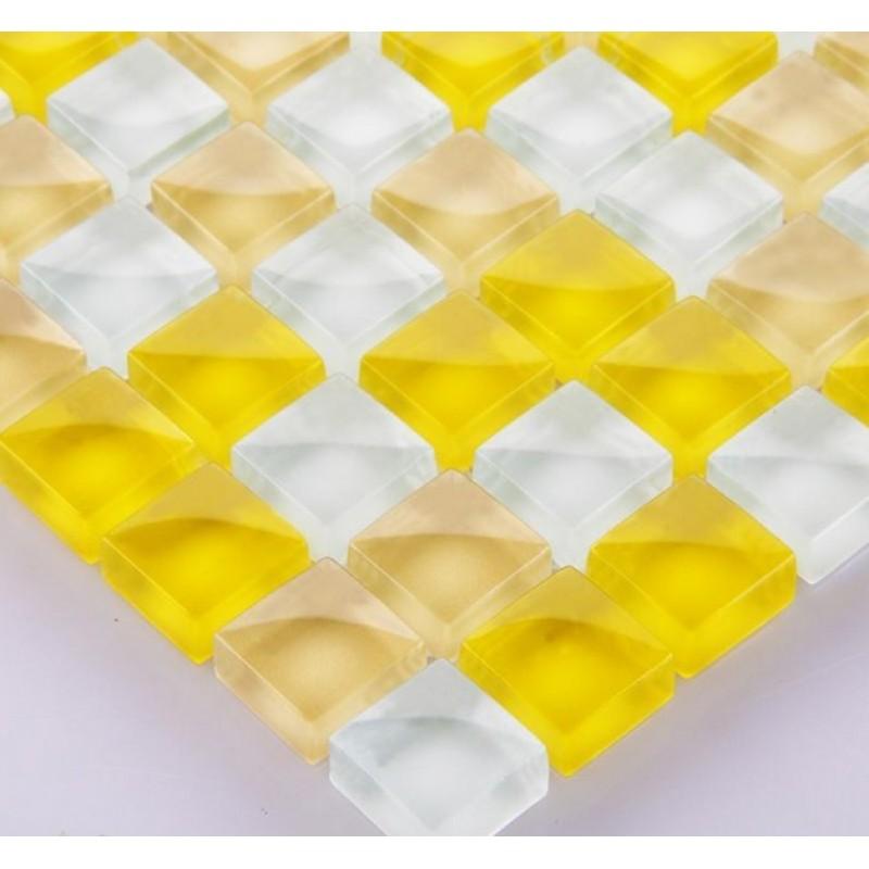 Yellow Mosaic Tile Backsplash: Wholesale Mosaic Tile Crystal Glass Backsplash Washroom