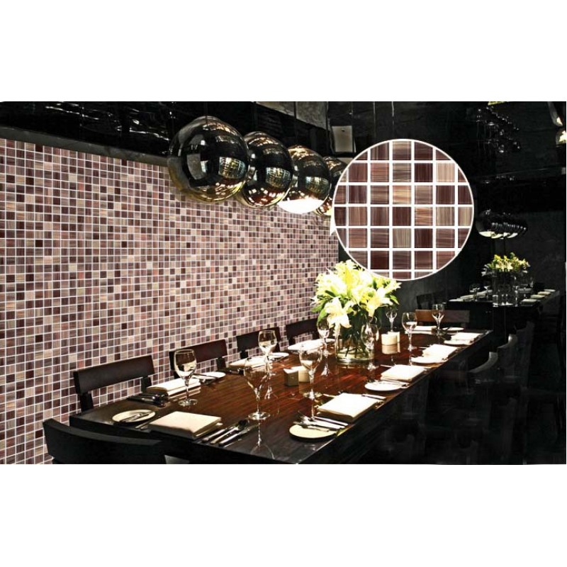 ... Crystal Glass Tile Backsplash Cheap Kitchen Ideas Hand Painted Brown  Mosaic Wall Tiles Bathroom Stickers