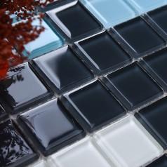 Glass Mosaic Tile Crystal Backsplash Wall Tiles Puzzle Mosaic Tile cream white Glass Tile CL102S