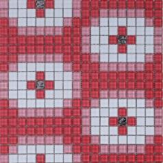Glass Mosaic Tile Murals Crystal Backsplash Wall Tiles Crystal Mosaic Collages Cream Glass Tile S1506-3
