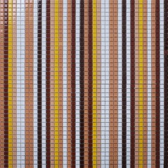 Glass Mosaic Wall Tiles Puzzle Mosaic Art Brown & Yello Mixed Crystal Glass Tile Waterfall Lines