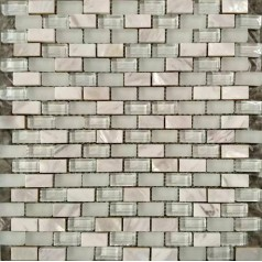 Frosted Glass Tile Backsplash Shell Mosaic Wall Tiles Natural Mother Of Pearl Subway Tiles