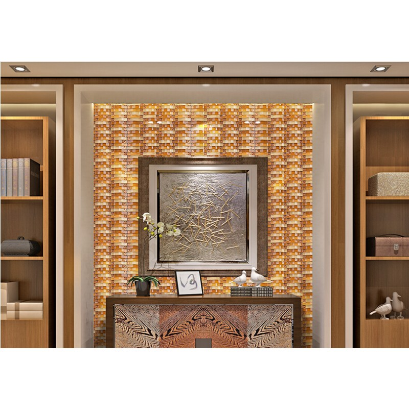 Brown Arched Tile Backsplash Crystal Glass Subway Bridge Patterns Bathroom Wall Backsplashes
