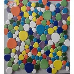 Pebbles Porcelain Glaze Tile Multicolored Pebble Mosaic Discount Floor Tiles