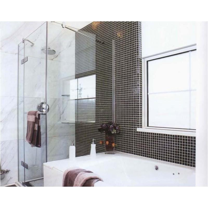 Gold Porcelain Tiles Bathroom Wall Backsplash Glazed: Wholesale Porcelain Tile Mosaic Black Square Surface Art
