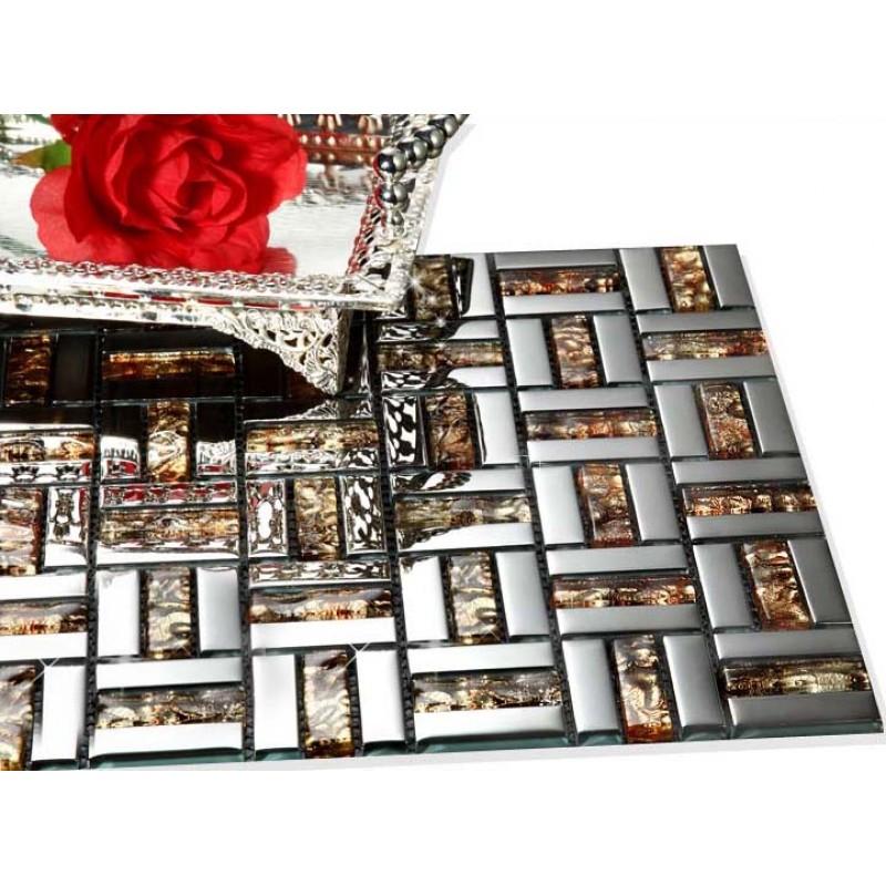gold silver mixed crystal metal coating tiles discount tile backsplash