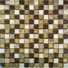 Golden Wave Wall Glass Mosaic Tile Natural Stone Kitchen Tiles Backsplash