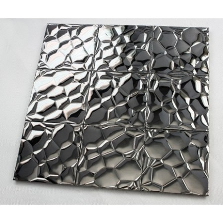 Metallic Mosaic Tile Glossy Metal Tile Brick Bathroom Wall