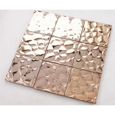 Stainless Steel Backsplash Cheap Mosaic Tile Metal Wall Decoration Kitchen Tiles 6709