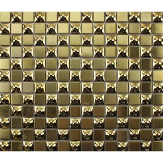 gold stainless steel backsplash mirror mosaic tile metal and glass tile mirrors bathroom mirrored wall backspashes KLGT7020