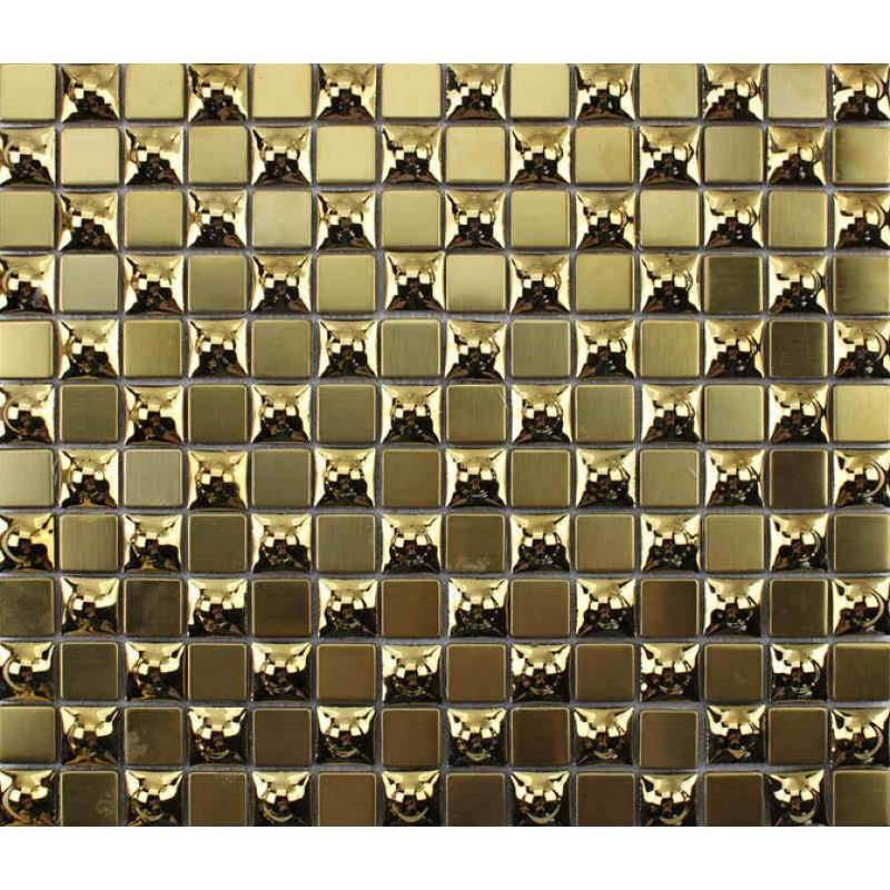 Bathroom Mirror Kl gold 304 stainless steel mosaic tile metal coating glass tile