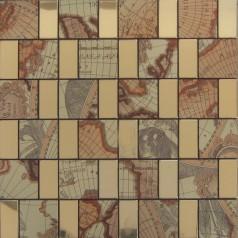 Peel and Stick Tile Gold Aluminum Metal Wall Tile Brick Adhsive Mosaic Kitchen Backsplash MH707