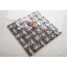 silver stainless steel mosaic tile kitchen backsplash cheap crystal glass diamond tile bathroom wall backsplashes KLGT107