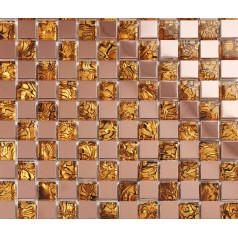 gold pattern glass mosaic tile stainless steel backsplash washroom metal backsplashes bathroom shower wall tiles designs KLGT147