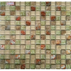"""Bathroom Mosaic Tile Glass And Stone For Kitchen Wall 4/5"""" Small Tiles Squares"""