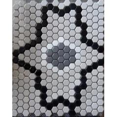 "Hexagon Ceramic Floor Tiles For Cheap 1"" Glaze Procelain Kitchen Backsplash Designs"