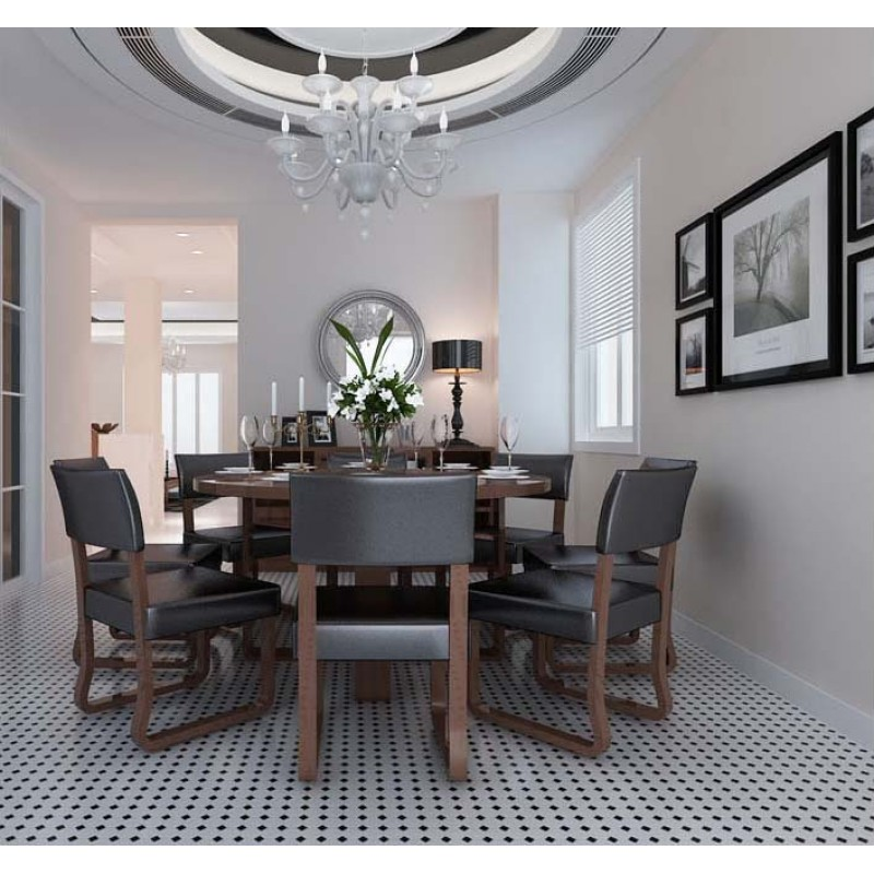 dining room tile flooring. glazed porcelain pool tile mosaic black white octagon surface art tiles floor kitchen backsplashes dining room flooring f