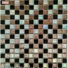 "Glass Mosaic Iridescent For Shower Walls 4/5"" Glass Tiles For Kitchen Backsplashes"