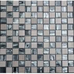 "Hand Painted Mosaics Natural Stone Wall Tiles 7/8"" Glossy Glass Mosaic Tile Backsplash"