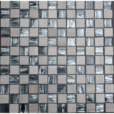 Hand Painted Mosaics Natural Stone Wall Tiles 7 8 Glossy Gl Mosaic Tile Backsplash