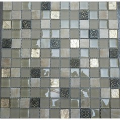 Glossy Glass Mosaic Resin Floor Tile Backsplash Decorative Wall Stone Interior Designs