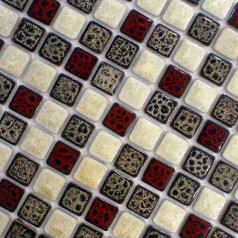 Italian Porcelain Tiles Square Mosaic Tile Multi-Colored Bathroom Wall and Floor Tile Kitchen Ideas
