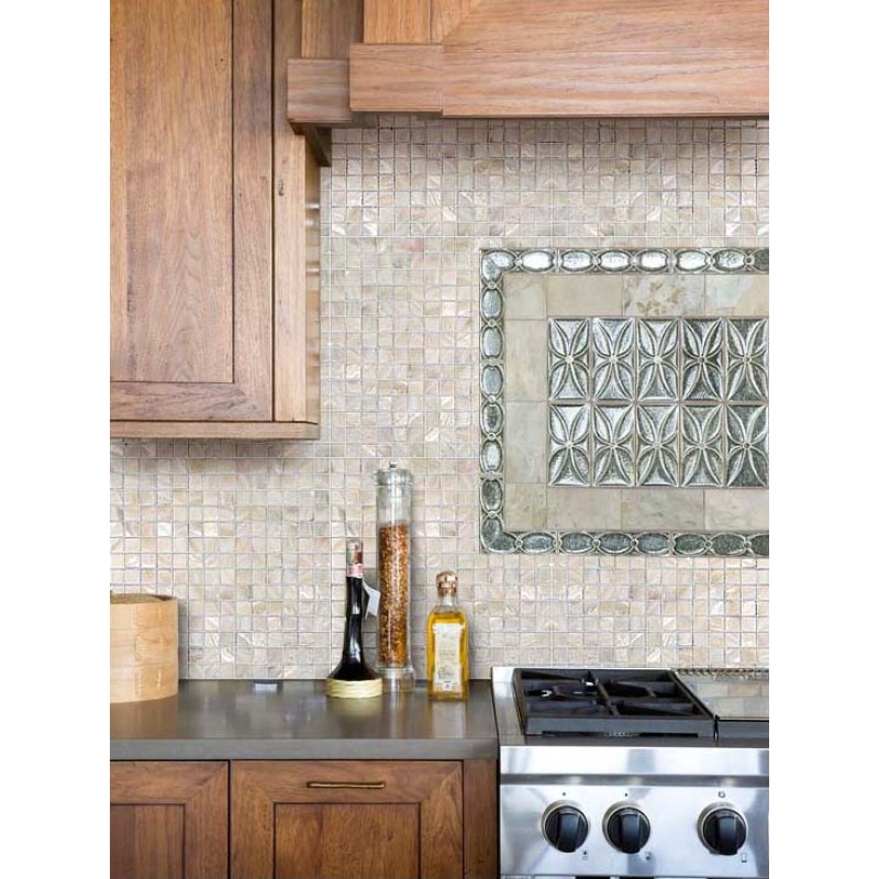... Mother of Pearl Tile Kitchen Backsplash Ideas Square Shell Mosaic Tiles Bathroom Wall and Floor Tile