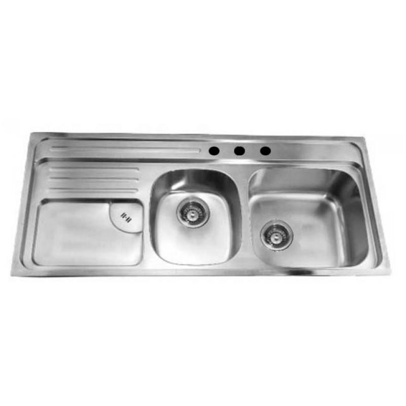 Wholesale Kitchen Sink with 3 Faucet Holes Double Bowl Large Bowl ...