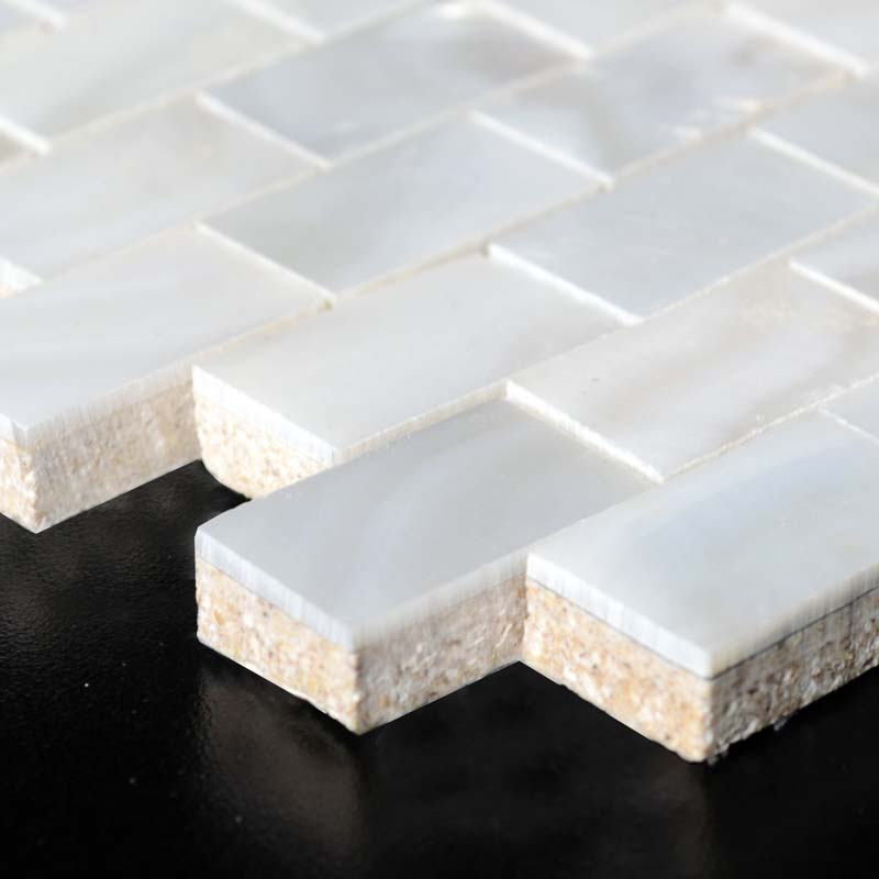 Wholesale Mother Of Pearl Mosaic With Porcelain Base White