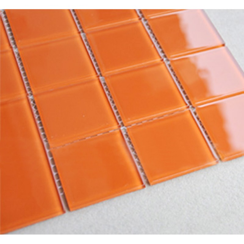 Kitchen Backsplash Orange wholesale orange crystal glass mosaic tiles kitchen backsplash