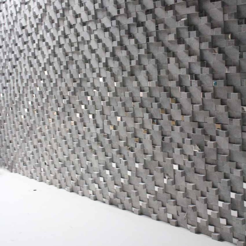 Stone Glass Mosaic Tile Gray 3d Bathroom Wall Tiles