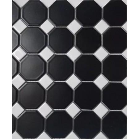 matte black ceramic otcagon tile